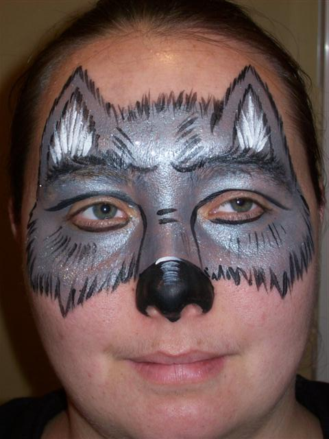 Easy Wolf Face Paint Images